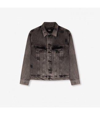 Alix Alix Ladies Woven Denim Jacket Grey