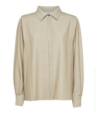 Norr Norr Cassie Pleat Shirt Beige