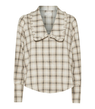 Norr Norr Reese Shirt Beige Check