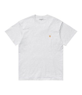 Carhartt Carhartt S/S Chase T-Shirt Cotton Ash Heather/ Gold
