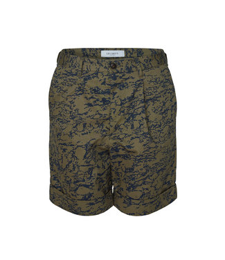 Les Deux Les Deux Preston AOP Cotton Shorts Green/Blue