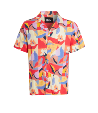 Native Youth Native Youth S/S Shirt In Mimosa Print Red