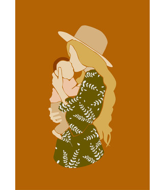 Roots Home Roots Home Poster A4 Baby Mommy Orange
