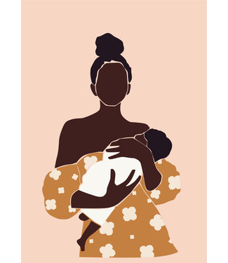 Roots Home Roots Home Poster A4 Baby Mommy Peach