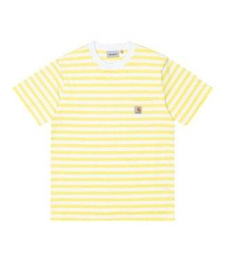 Carhartt Carhartt S/S Scotty Pocket T-shirt Stripe Limoncello