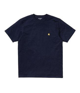 Carhartt Carhartt S/S Chase T-shirt Dark Navy / Gold