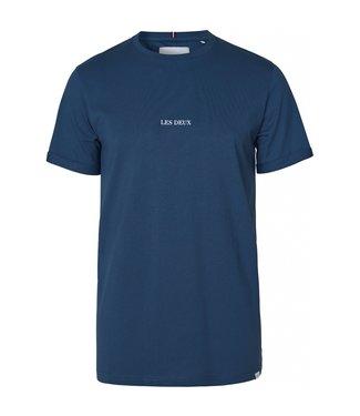 Les Deux Les Deux Lens T-shirt Denim Blue/White