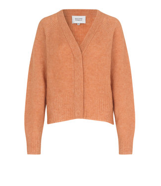 Second Female Second Female Brooky Knit Boxy Cardigan Toasted Nut