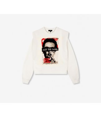 Alix Alix The Label Knitted Oversized Photo Sweater White