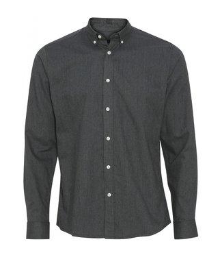 Clean Cut Copenhagen Clean Cut Copenhagen Basic Organic Flannel Shirt Charcoal