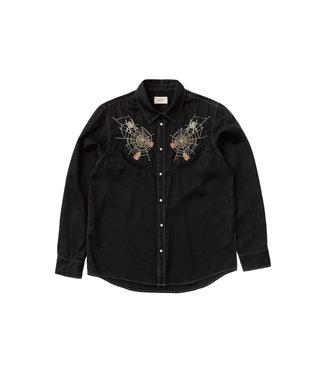 Nudie Jeans Nudie Jeans Stellan Spider Web Shirt Black