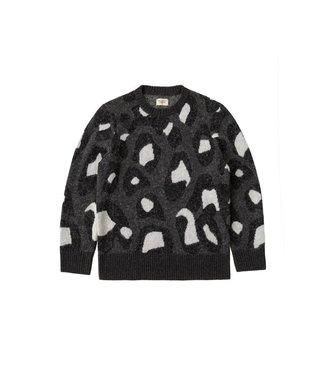 Nudie Jeans Nudie Jeans Hampus Black Leopard Knit