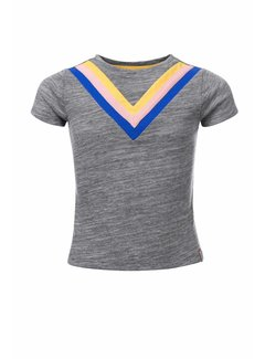 LOOXS 10sixteen Grey  t-shirt with V