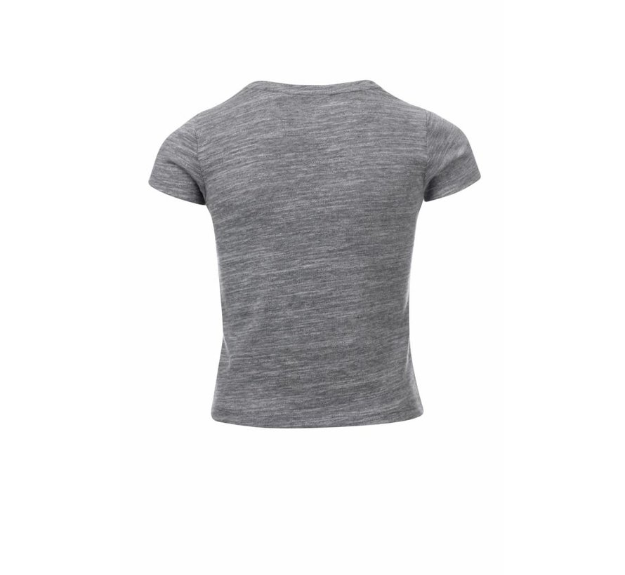 Grey  t-shirt with V