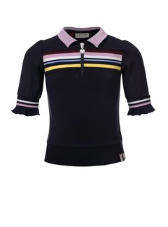 LOOXS Girls Navy zip top