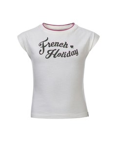 LOOXS Girls Pointel t-shirt off/white