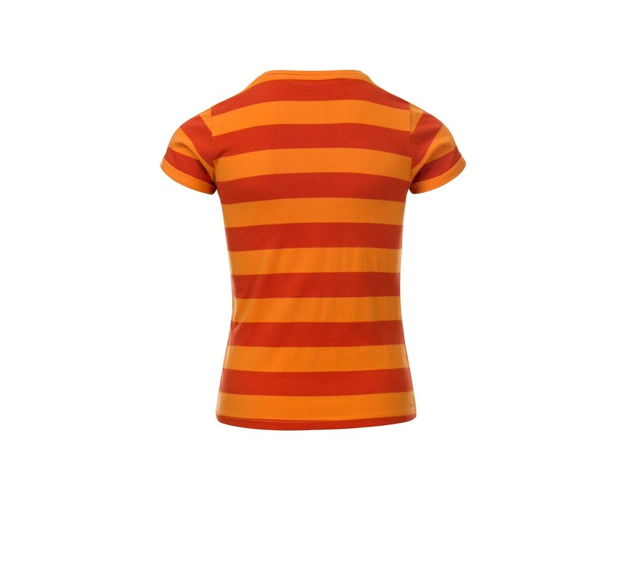 Striped tee in rust colors
