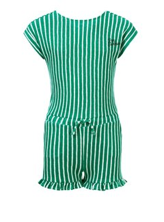 LOOXS Girls Green striped jumpshort