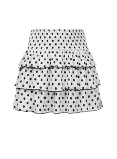 LOOXS Little Off/white polkadot rokje