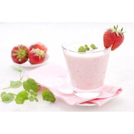 Eiwitrijk poeder voor aardbeienshake/dessert