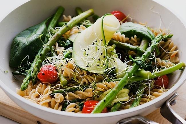 Fusilli met snelle groenten