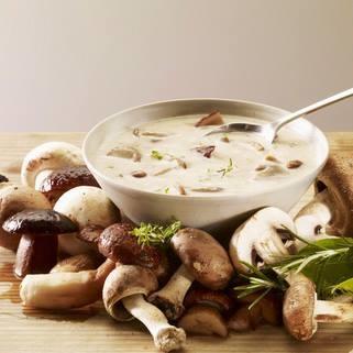 Herfst champignonsoep met soepstengels
