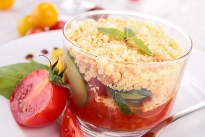 Couscous met tomaat & courgette
