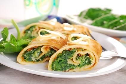 Hartige pannenkoek met groene groenten