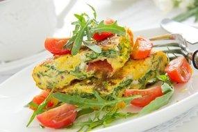 Omelet met spinazie & salie