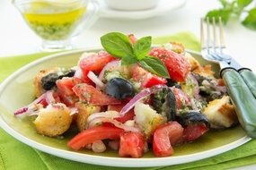 Frisse salade met croutons