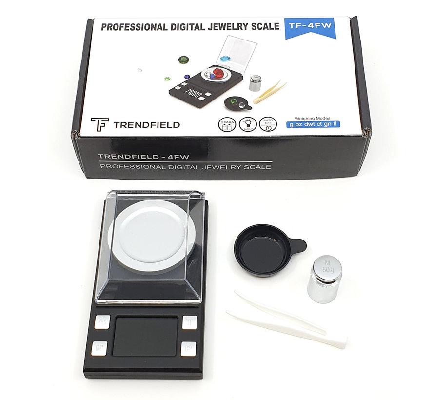 Digitale Precisie Weegschaal 50g tot 0,001 Gram Nauwkeurig - Geschikt voor Medicijnen, Kruiden, Juwelen - Pocket Model