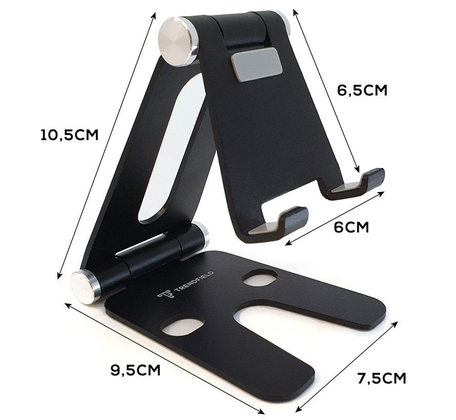 Tablet & Telefoon Houder Opvouwbaar - Inklapbare Standaard voor Tafel of Bureau TTH105