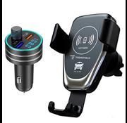 Trendfield Telefoonhouder Auto Draadloos Opladen + Bluetooth Carkit