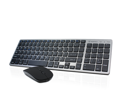 Trendfield Trendfield Draadloos Toetsenbord met Muis Bluetooth - Oplaadbaar - Geruisloos - Zwart