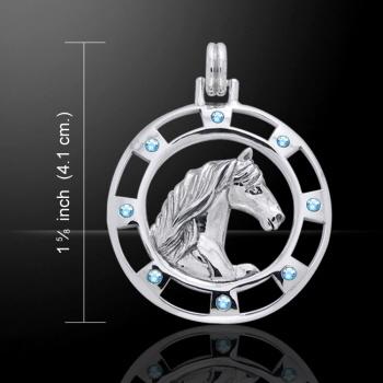 Fries paard hanger van zilver