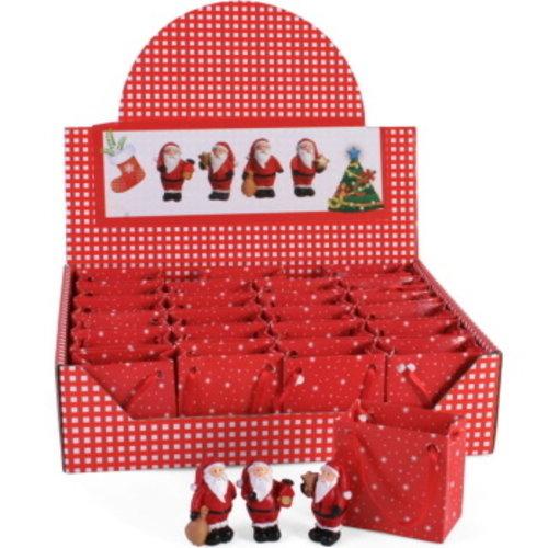 Doos 24 stuks Kerstman is tasje met gratis kaartjes