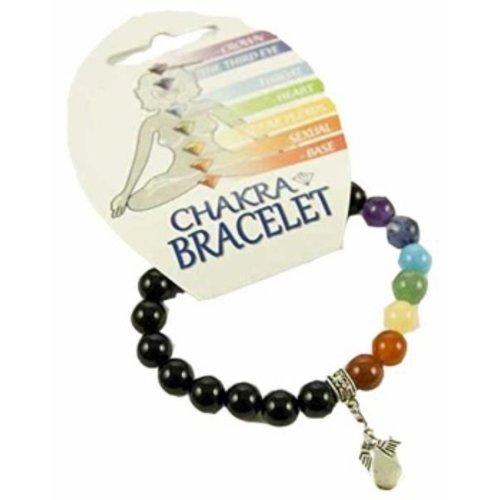 Chakra armband met een engel bedeltje