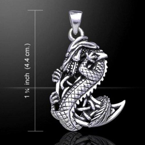 Dragon met Keltische maan