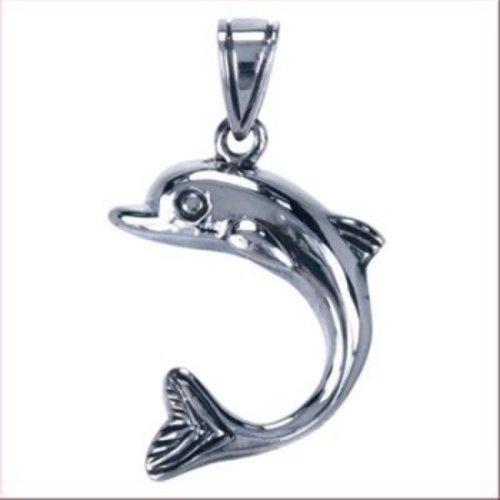 Dolfijn hanger van zilver