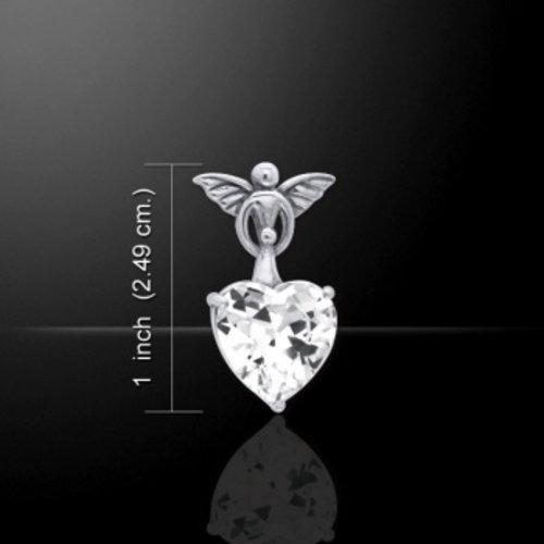 Engel met kristallen hartje