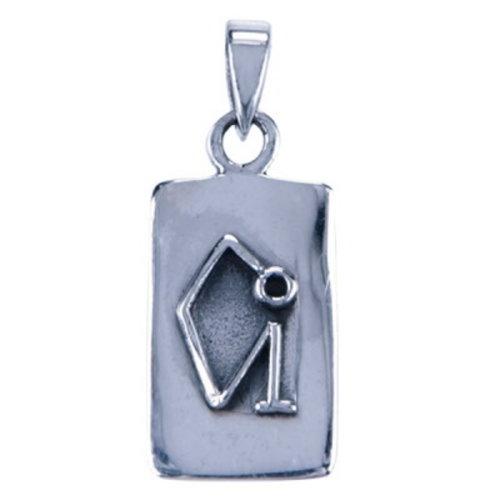 Aartsengel Uriel hanger zilver