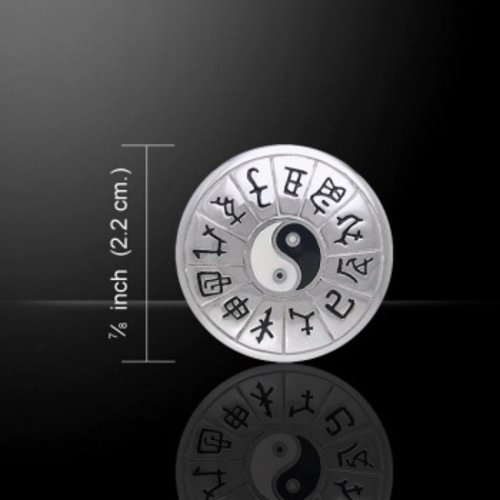 Chinese Astrologie Yin Yang zilver hanger