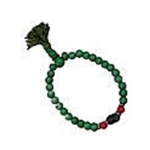 Green bone mala armband