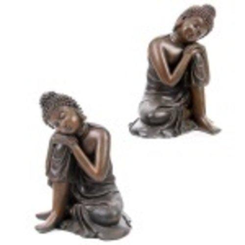 Boeddha zittend houtlook