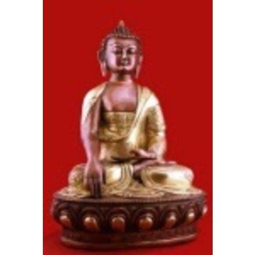 Boeddha Akshobya beeld 2-kleurig 31 cm