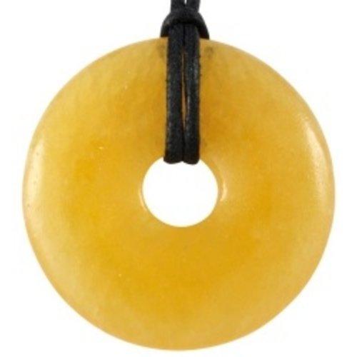 Donut oranje calsiet 4 cm