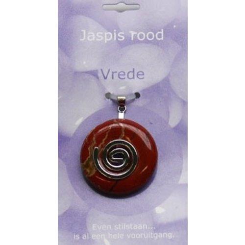 Donut Jaspis rood spiraalhanger