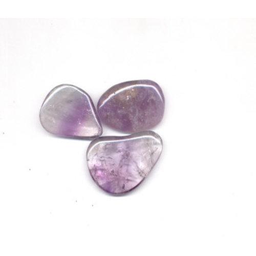 Amethyst platte steen