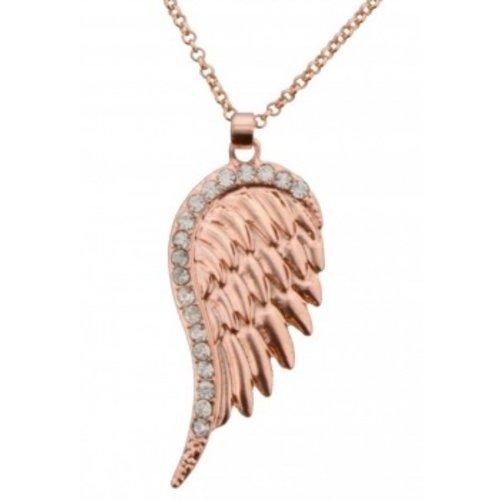 Engel vleugel bronskleurig aan ketting