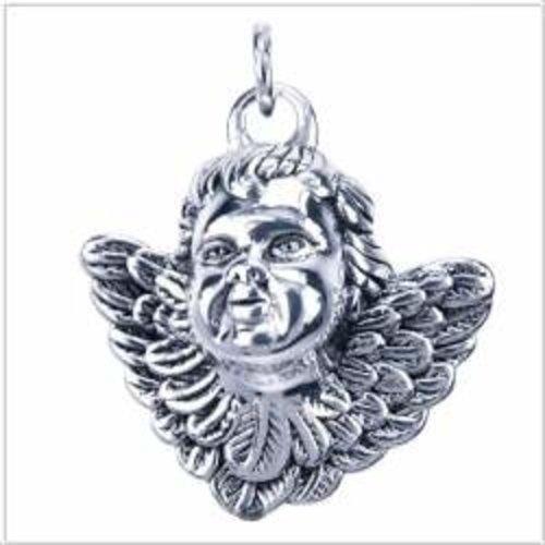 Engel hoofdje zilver hanger